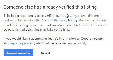 Already Verified This GMB Listing