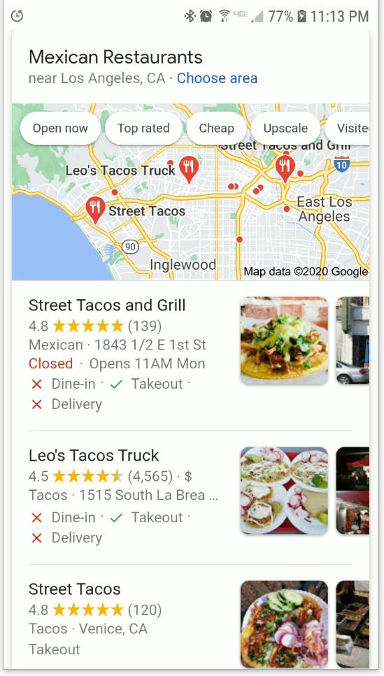Street Tacos In Los Angeles